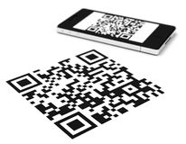 The qr code Royalty Free Stock Photos