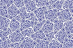 QR Code Dark Blue Background. Quick Response Code for Supermarket, E-commerce, Shop Etc vector illustration