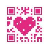 QR code design Stock Image