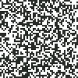 QR Code Digital Abstract Black And White Pixel Noise Background Stock Photo