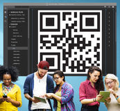 QR Code Encryption Interface Coding Concept Royalty Free Stock Photography