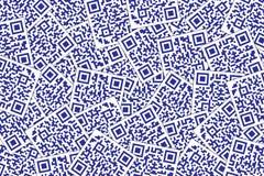 QR Code escuro - fundo azul Código rápido da resposta para o supermercado, o comércio eletrônico, a loja etc. ilustração do vetor