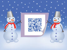 QR code Happy New Year Royalty Free Stock Photos