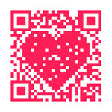 QR code - Hart Royalty-vrije Stock Fotografie