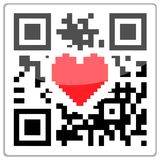 QR code heart Royalty Free Stock Photography