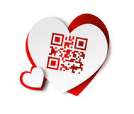 QR code - I love you Royalty Free Stock Images