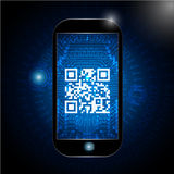 Qr code icon,  scanning qr code sign. Royalty Free Stock Photo