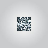 Qr code icon, vector illustration Royalty Free Stock Images