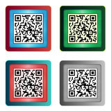 QR Code Icons Royalty Free Stock Photography