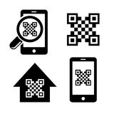 QR code icons set Stock Photos