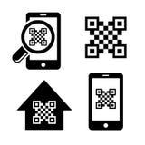 QR code icons set vector illustration