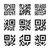 QR code icons Royalty Free Stock Photos