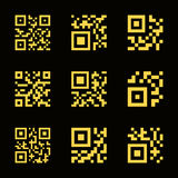 QR code icons Stock Image