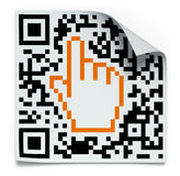 QR code label concept Stock Photography