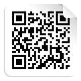 QR code label concept Stock Image