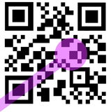 QR Code with laser Stock Photography