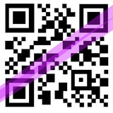 QR Code with laser Royalty Free Stock Image