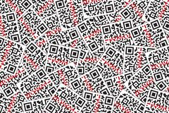 QR Code with Laser Beam Background. Quick Response Code for Supermarket, E-commerce, Shop Etc. QR Code with Laser Beam Background. Quick Response Code for royalty free illustration