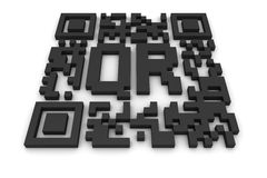 QR-code with letters Stock Images