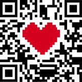 QR code of love stock illustration