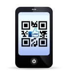 QR Code Mobile Phone Stock Photo