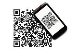 QR code mobile scanner Stock Images