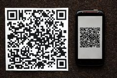 QR code mobile scanner Stock Photography