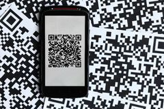 QR code mobile scanner Stock Photo