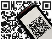 QR code mobile scanner Stock Photos