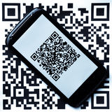 QR code mobile scanner Stock Image