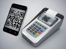 Qr code and new way to pay. 3d high quality rendering Stock Images