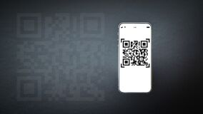 Free Qr Code Payment. Digital Mobile Smart Phone With Qr Code Scanner On Smartphone Screen For Payment Pay, Scan Barcode Technology On Royalty Free Stock Image - 215162756