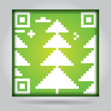Qr code with pine - ecology concept Royalty Free Stock Images