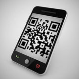 Qr code reader. 3d high quality render Royalty Free Stock Photo