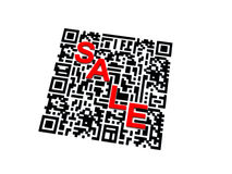 QR code with SALE word Stock Photography