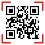 Qr code sample. Vector illustration of Qr code sample. Scanned Qr code reads Scan it Royalty Free Stock Image