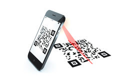 Qr code scan. An image of a mobile phone qr code scan Royalty Free Stock Images