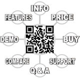 QR Code Scan Barcode to Learn Info on Products Stock Photo