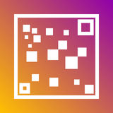 QR code scan icon in trendy flat style isolated on grey background. Internet and ecommerce symbol for your design, logo, UI. Vecto Royalty Free Stock Images