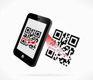 QR-code scan Stock Images