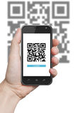 QR code scanning application Royalty Free Stock Photos