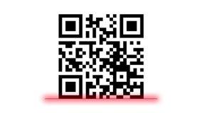 Qr code scanning technology, digital decryption concept