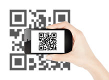 QR code scanning Stock Photos