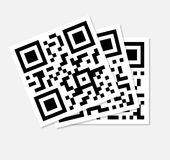 Qr code series. Qr code is a message Royalty Free Stock Images