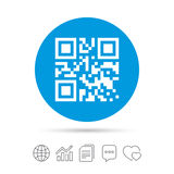 Qr code sign icon. Scan code symbol. Stock Images