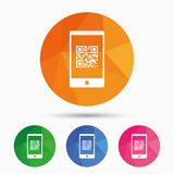Qr code sign icon. Scan code symbol. Royalty Free Stock Photos