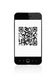 Qr code on smart phone Stock Images