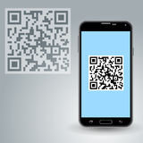 QR code in smartphone Royalty Free Stock Photo