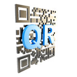QR code technology illustration isolated Royalty Free Stock Photo
