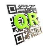 QR code technology illustration isolated. QR code technology illustration icon isolated on white Stock Image